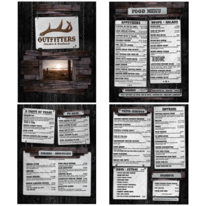 Outfitters Menu Design
